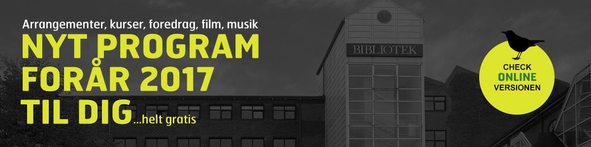 Klik og se programmet for Horsens Bibliotek forår 2017