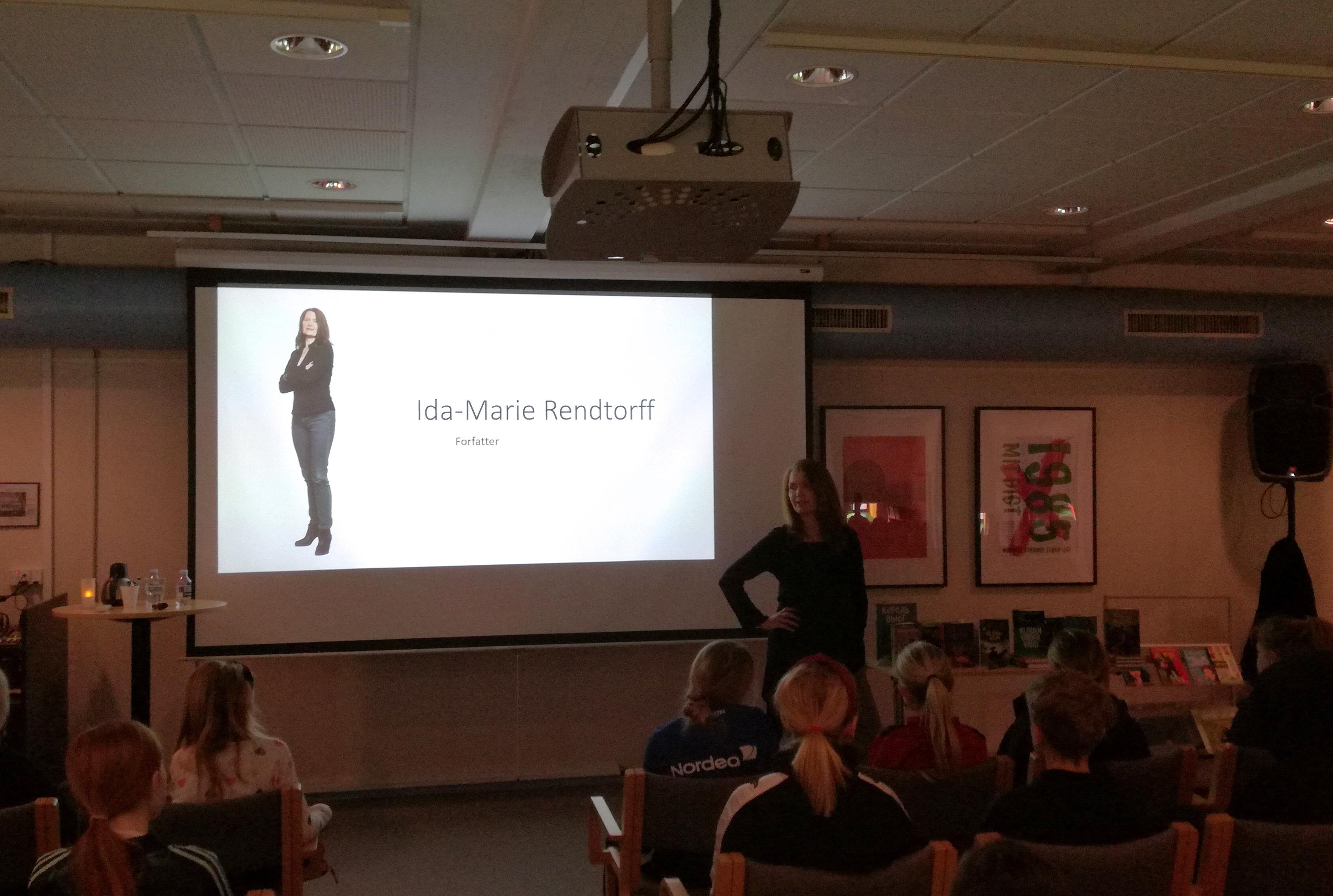 Billede af foredraget med Ida-Marie Rendtorff
