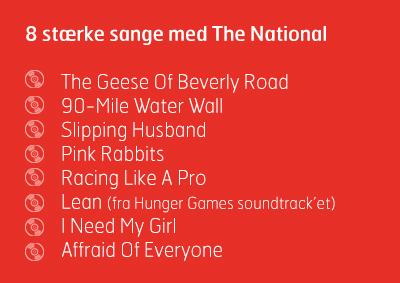 8 stærke sange fra The National, Horsens Bibliotek