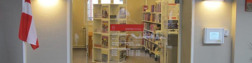 Indgang til Gedved Bibliotek