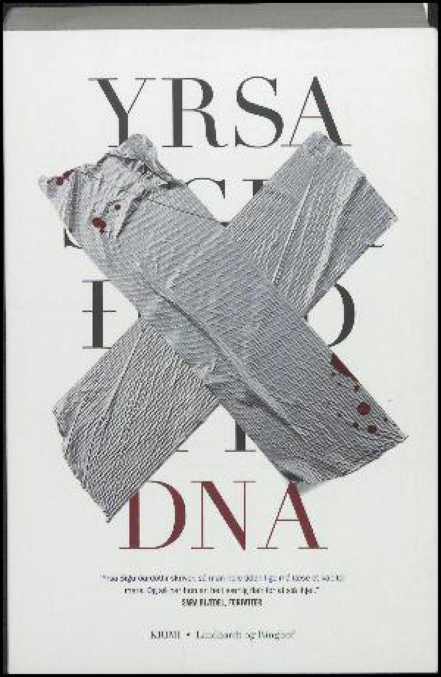 """Forsiden på Yrsa Sigurðardóttirs roman """"DNA"""""""