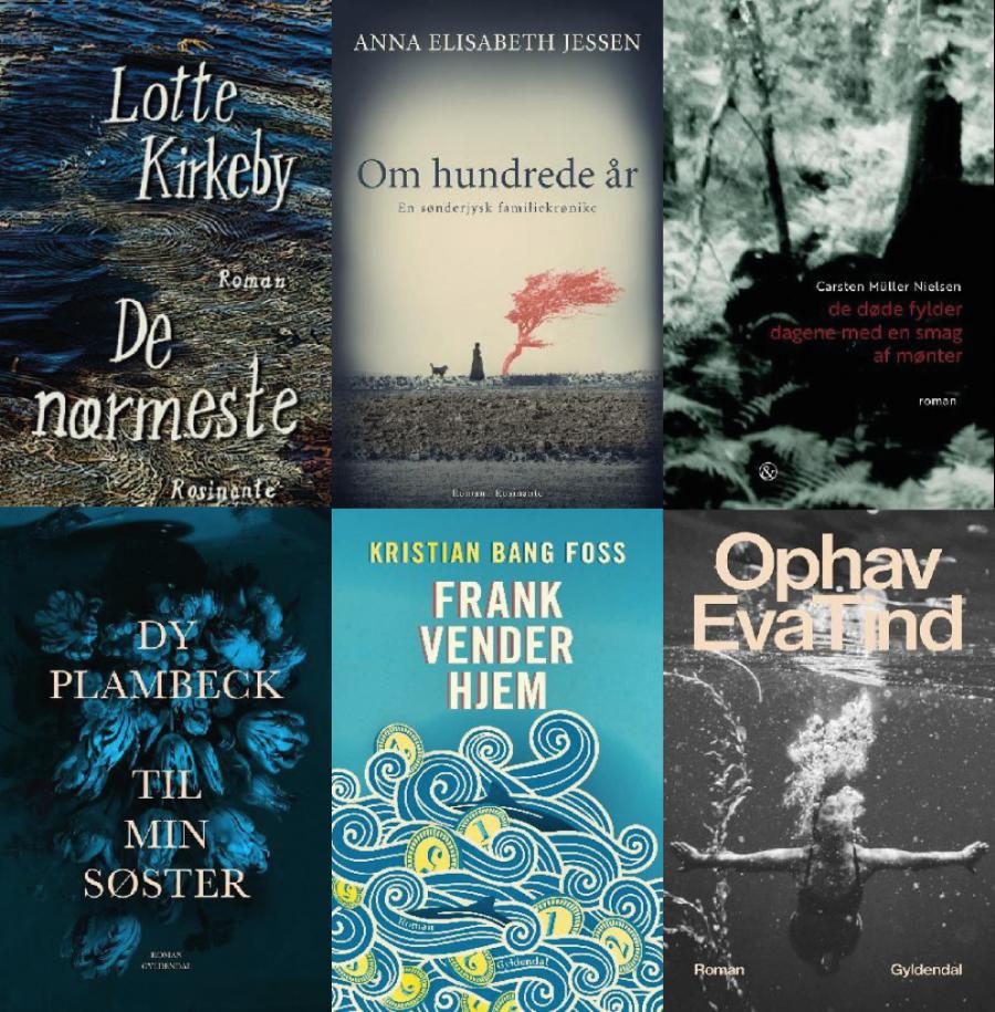 De seks nominerede bøger