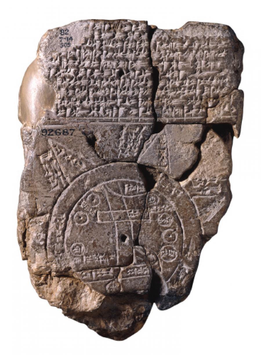 Det ældste, kendte verdenskort: Imago Mundi fra cirka 600 fvt