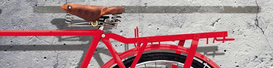 En rød cykel