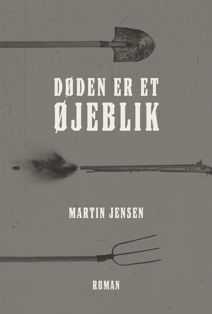 Forside til bogen Døden er et øjeblik af Martin Jensen