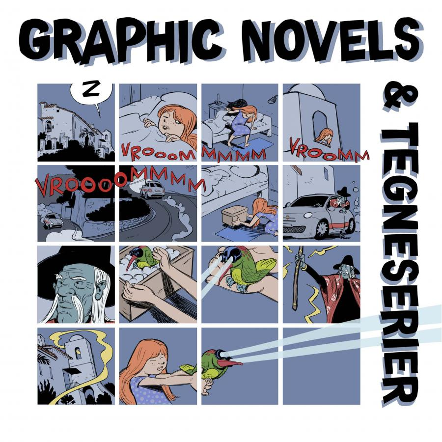 Emneliste: Graphic novels og tegneserier