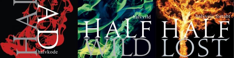 Forside til bøgerne i Half bad-serien af Sally Green