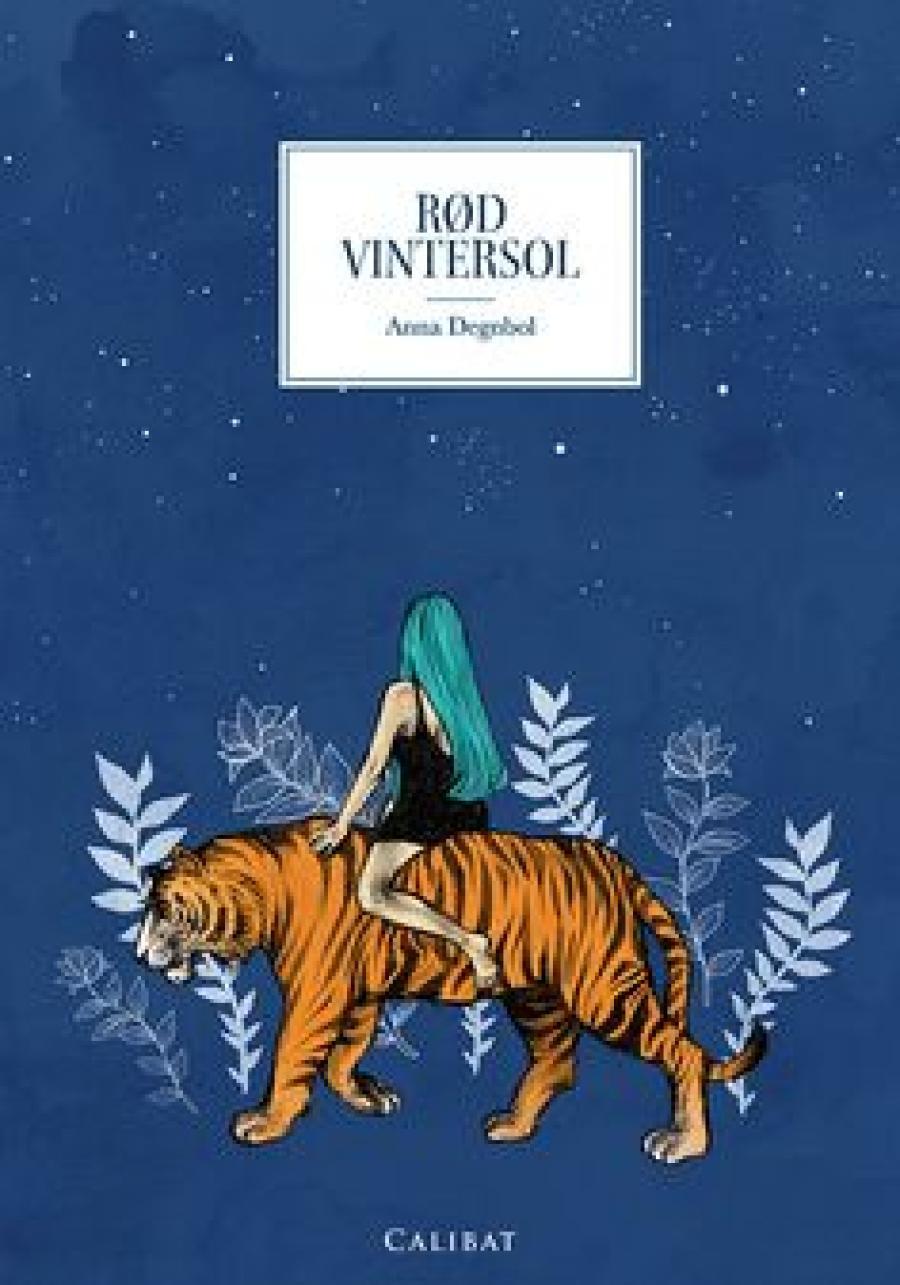 Rød vintersol af Anna Degnbol